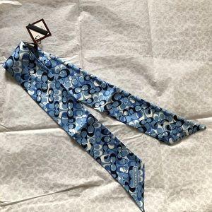Coach Soho Gradient Vintage Ponytail Scarf in Blue